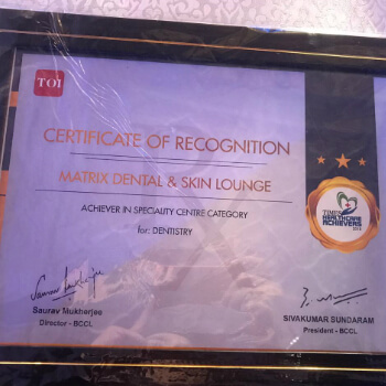 Award Winning Clinic - Matrix Dental and Skin Lounge